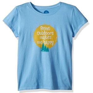 Life is Good Girls Blue Large Outdoors T-shirt